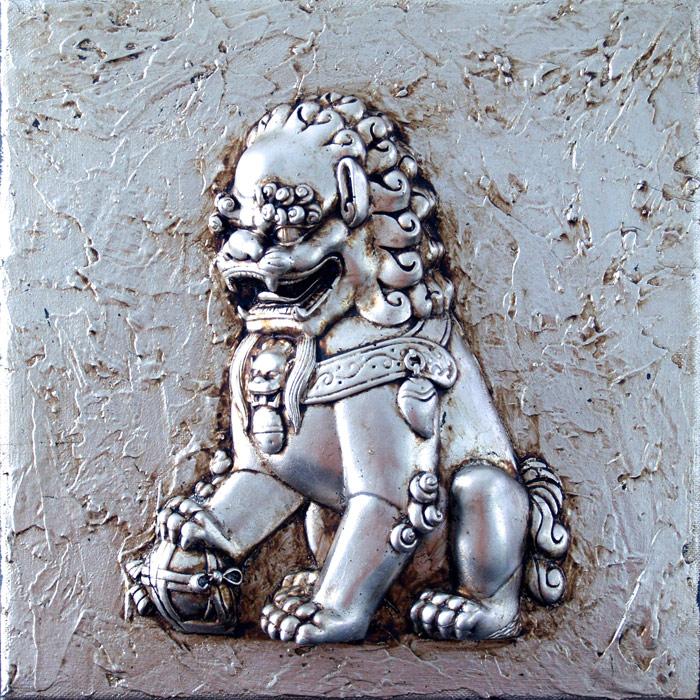 cuadros leones orientales