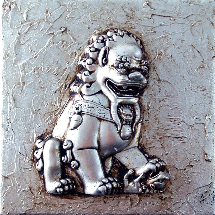 cuadros leones chinos