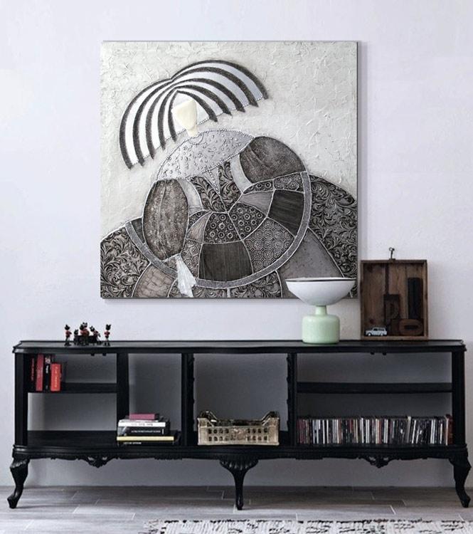 ESTUDIO DELIER | Cuadro menina plata vintage 100x100