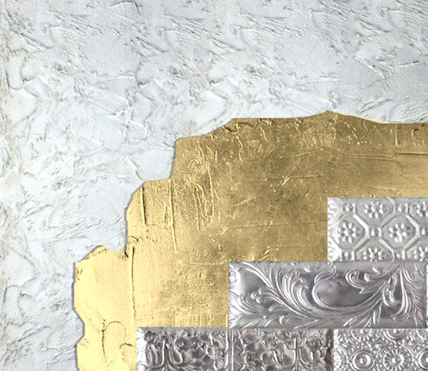 cuadros con relieve oro