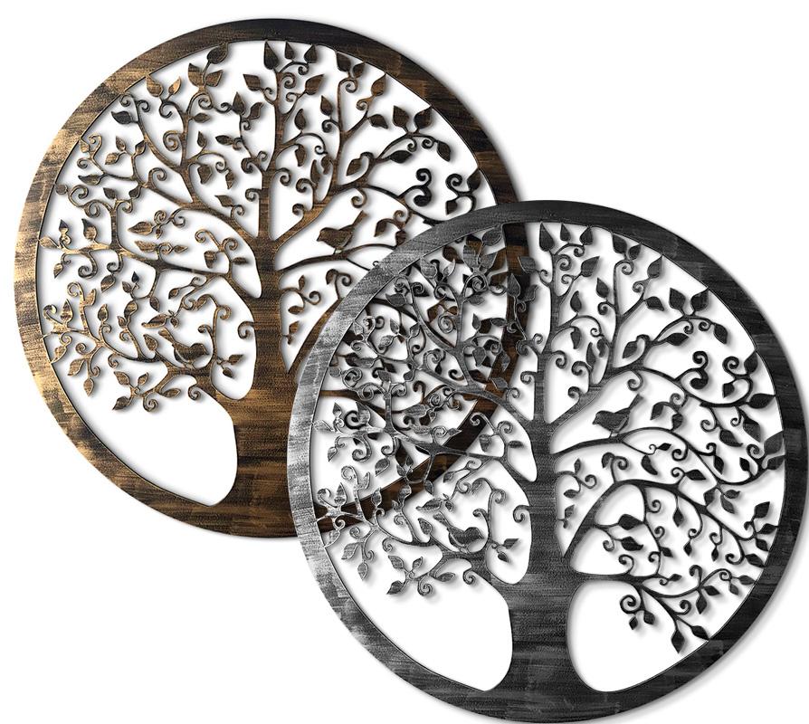 Rosetón Árbol de la vida oro-plata