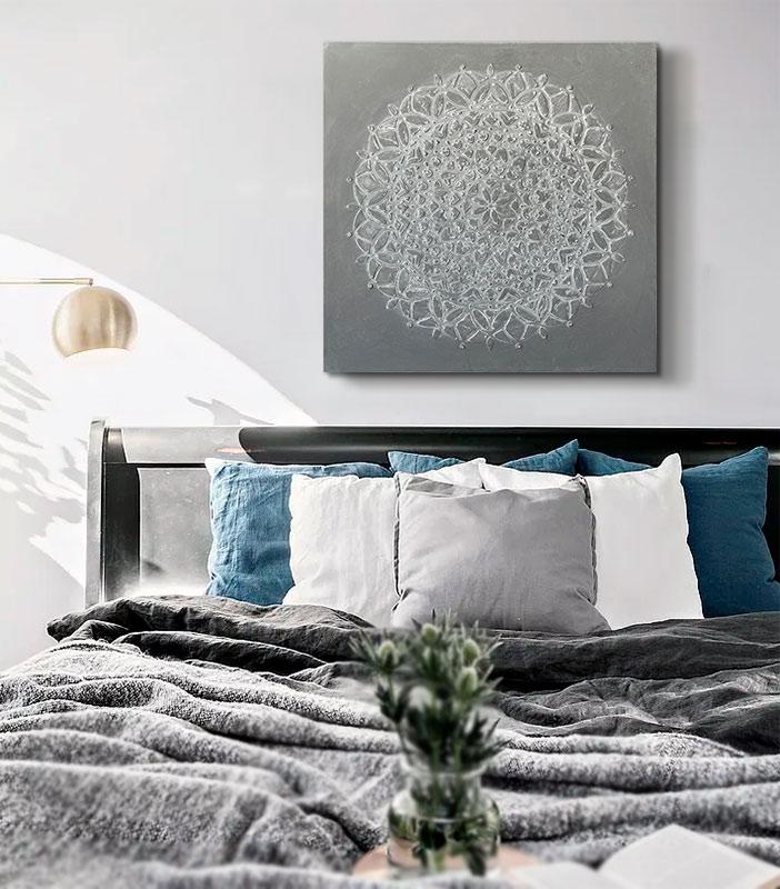 cuadros para el dormitorio gris