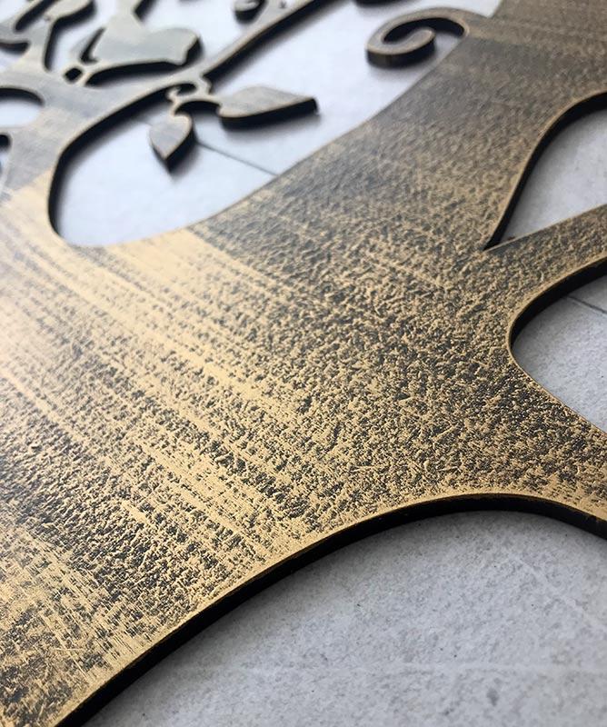 detalle decorado en oro