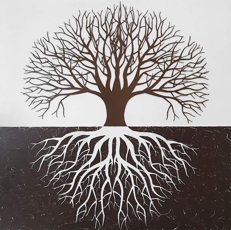 cuadro arbol de la vida en madera