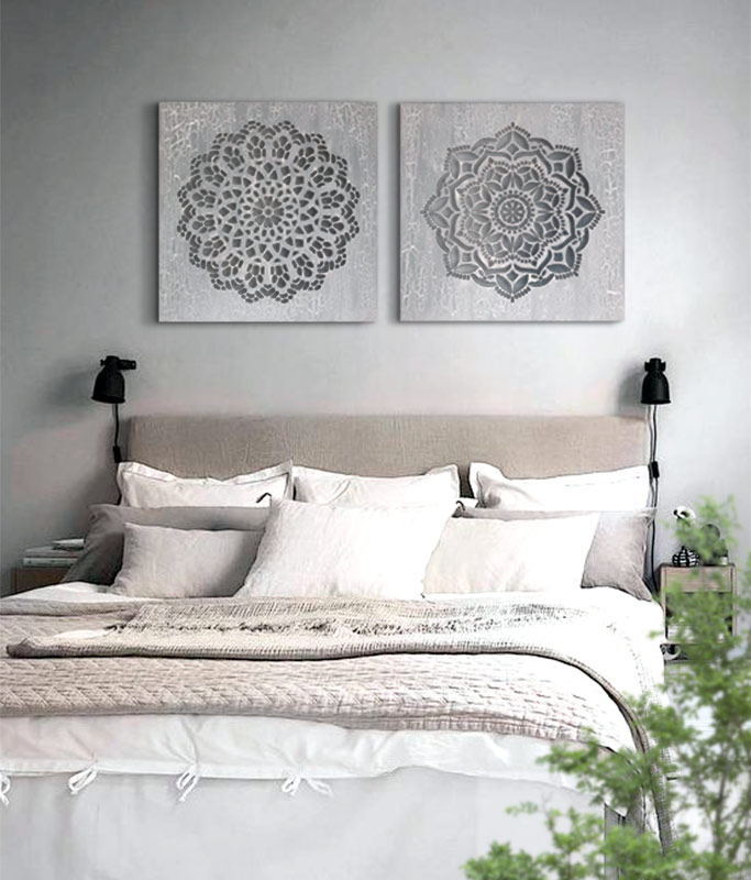 cuadros mandalas para dormitorio