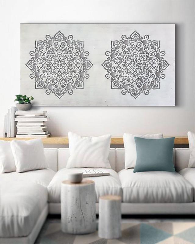 cuadros para sofas mandalas