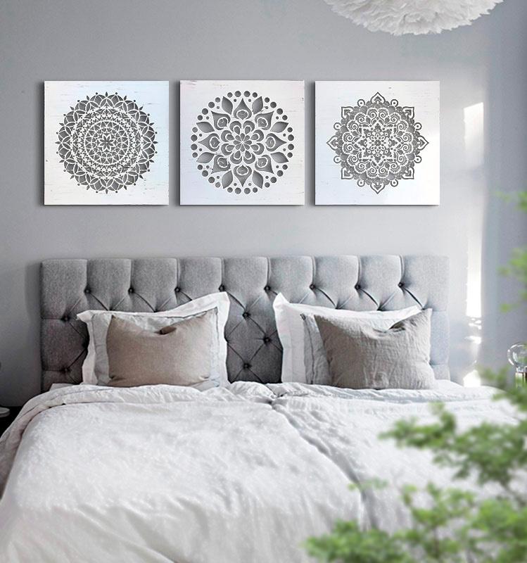 cuadros dormitorio mandalas