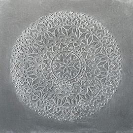cuadros mandalas gris blanco