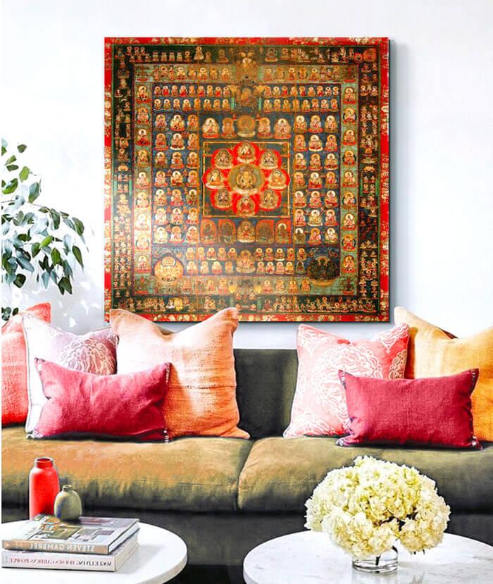 comprar cuadros mandalas para sofas