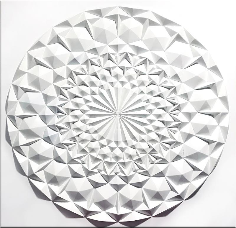 Estudio delier cuadro mandala diamante blanco - Cuadros mandalas ...