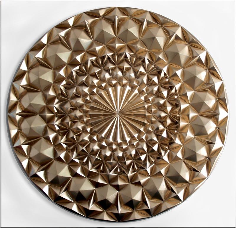 Estudio delier cuadro mandala diamante oro plata - Cuadros mandalas ...