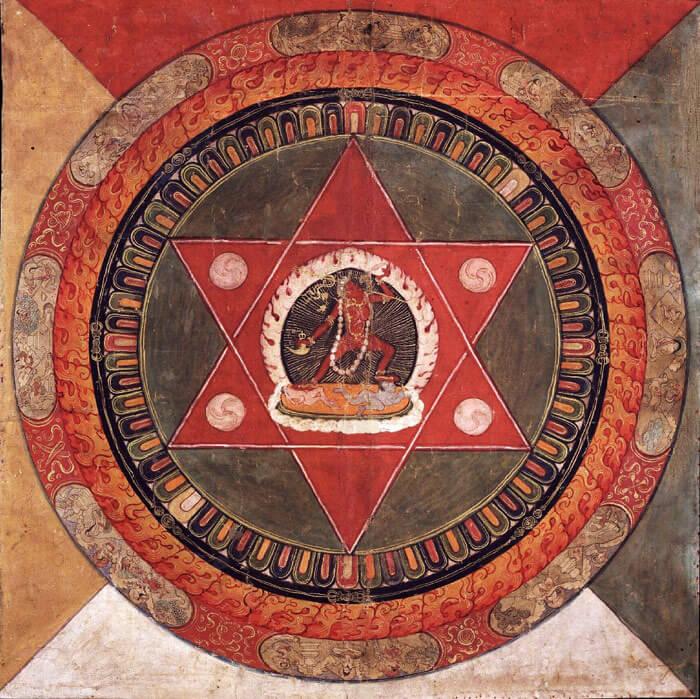 Mandala tibetano de la tradición Naropa.