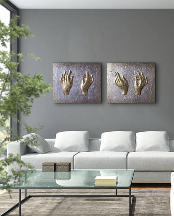 cuadros en oro y plata