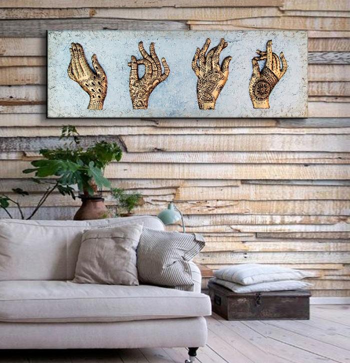 tienda online cuadros plateados sofas