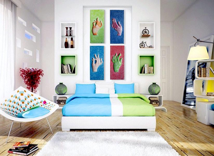 Sensaciones de hogar cuadros de autor con alma propia - Decoracion con cuadros grandes ...