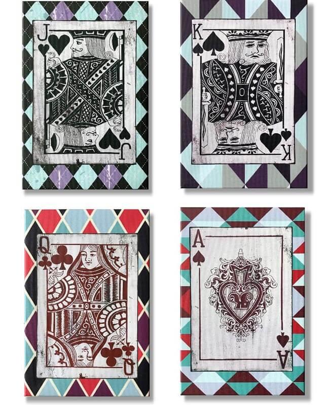 cuadros modernos cartas de poker
