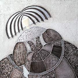 Cuadros de las meninas, original cuadro moderno realizado por artistas, decorado en plata en relieve, perfecto como cuadro modernos para el sofá, o como cuadros para el cabecero o entrada