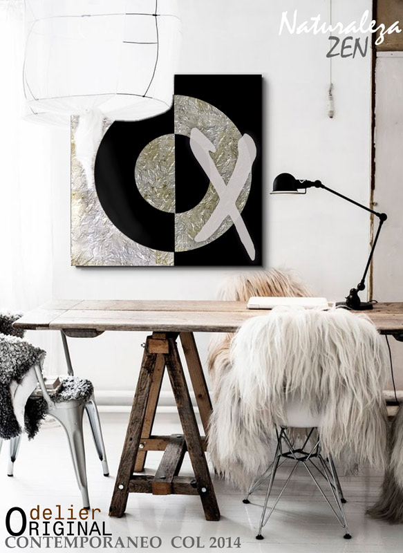 cuadros plateados modernos