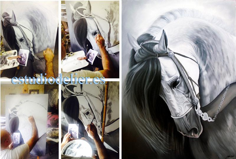 cuadros al oleo caballos