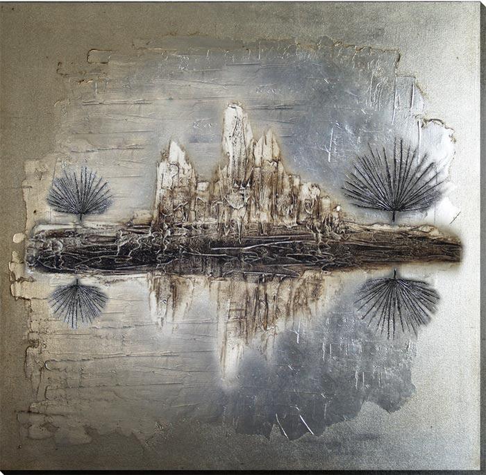 Estudio delier cuadro abstracto naturaleza for Comprar cuadros grandes baratos