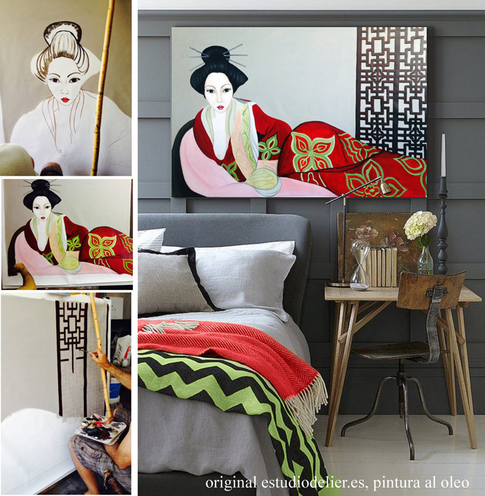 cuadros orientales para dormitorios