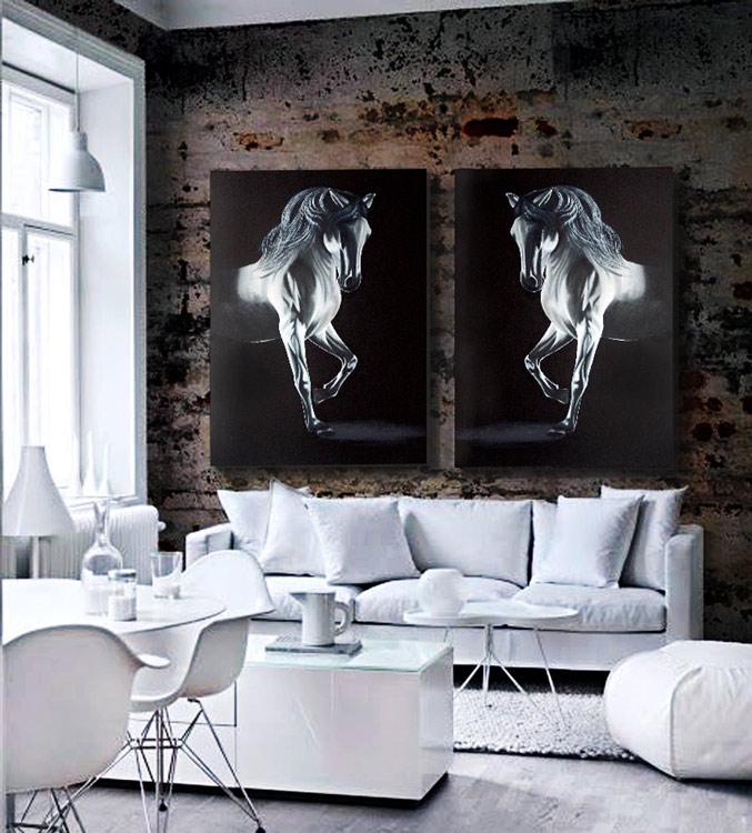 Estudio delier cuadro caballo for Cuadros verticales grandes