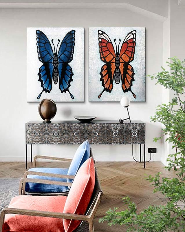 cuadros de mariposas modernos