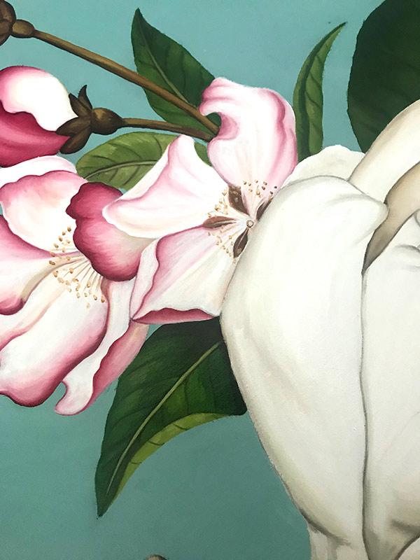 cuadros pintados al oleo flores