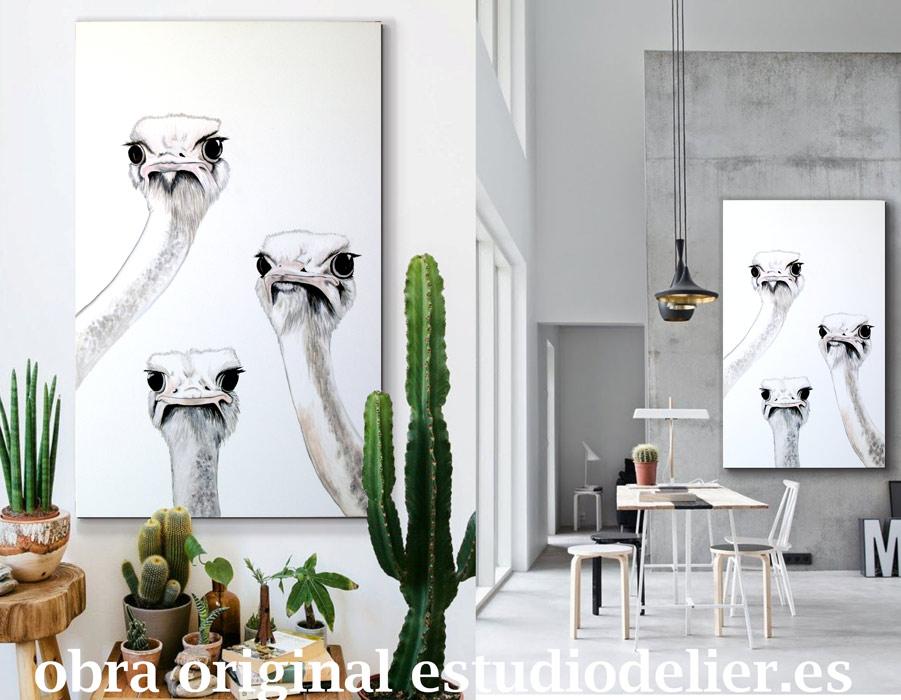 Espacios ideales para comprar cuadros online delier - Cuadros originales para salon ...