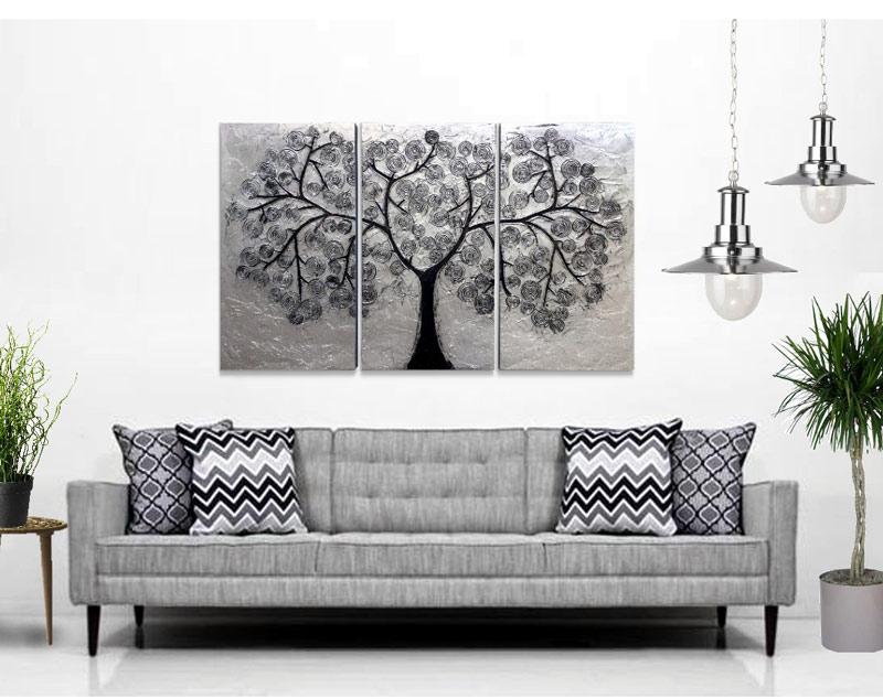 cuadros tripticos abstractos