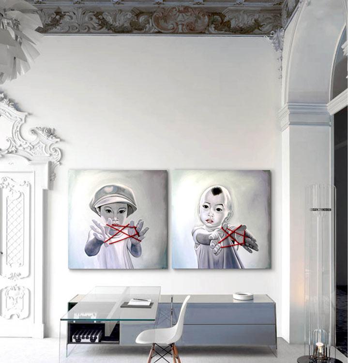 decorar con cuadros modernos