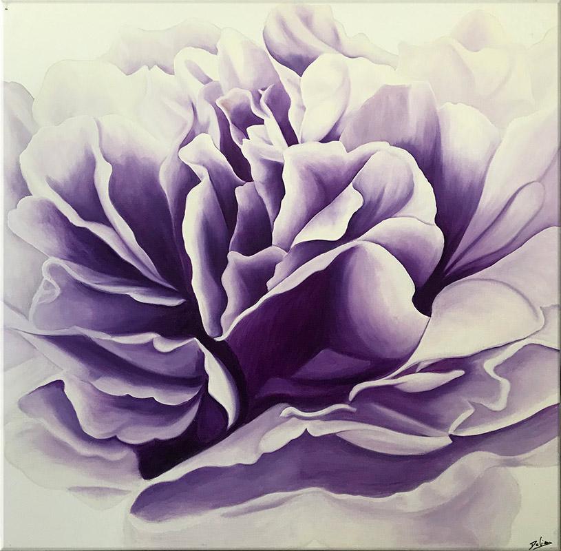 cuadros morados flores