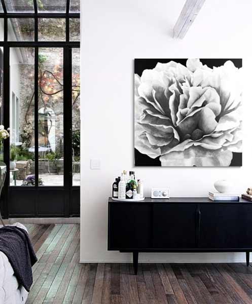 cuadros modernos en negro