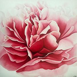 cuadros rosas peonias