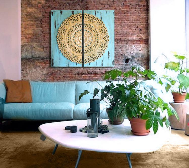 Estudio delier cuadros mandala diptico - Cuadros originales para salon ...