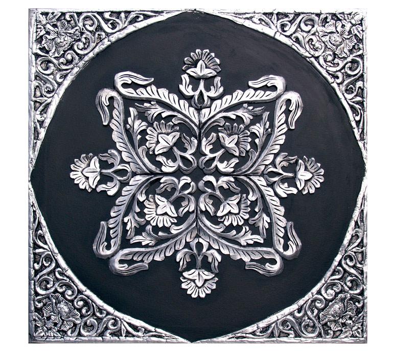 cuadros clasicos en negro plata