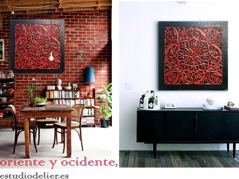 cuadros decorativos en rojo