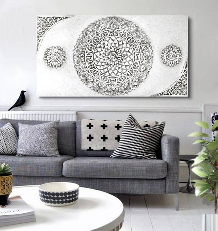 Estudio delier cuadro mandala cabeceros sofas - Cuadros originales para salon ...