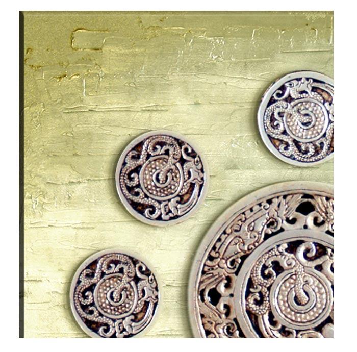 pintura color oro para paredes