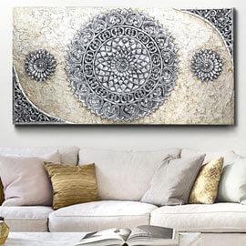 decoracion encima sofa