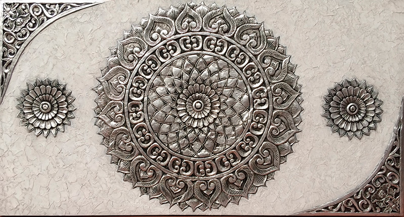 cuadros mandalas en relieve