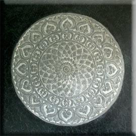 Estudio delier cuadro roseton madera 120x120 - Cuadros mandalas ...