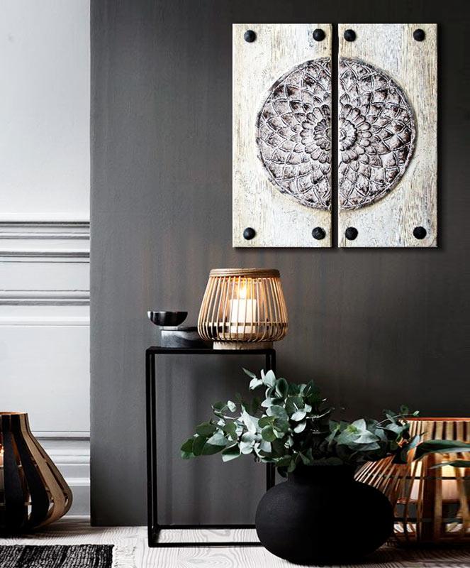 Estudio delier cuadro puerta mandala - Cuadros para decoracion ...