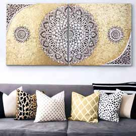 decorar pared del sofa