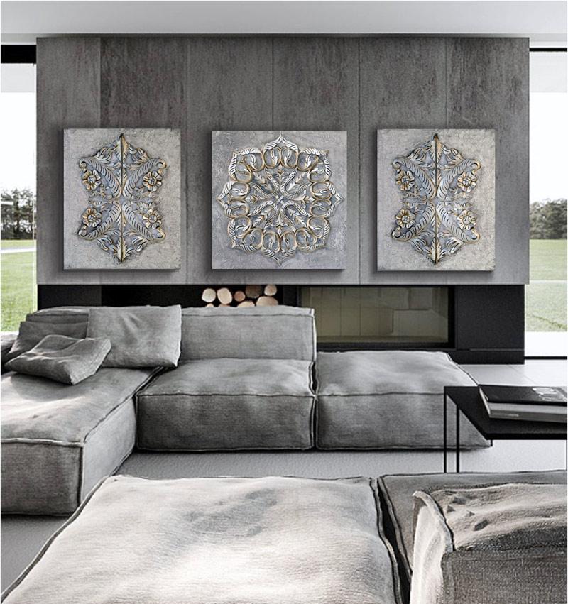 Estudio delier cuadro mandala roco1 60x60 - Cuadros originales para salon ...