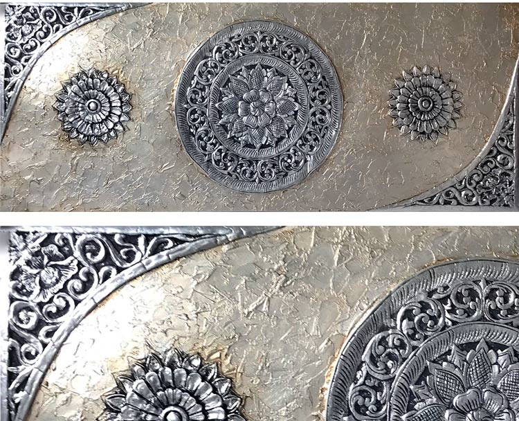 cuadros de mandalas en plata