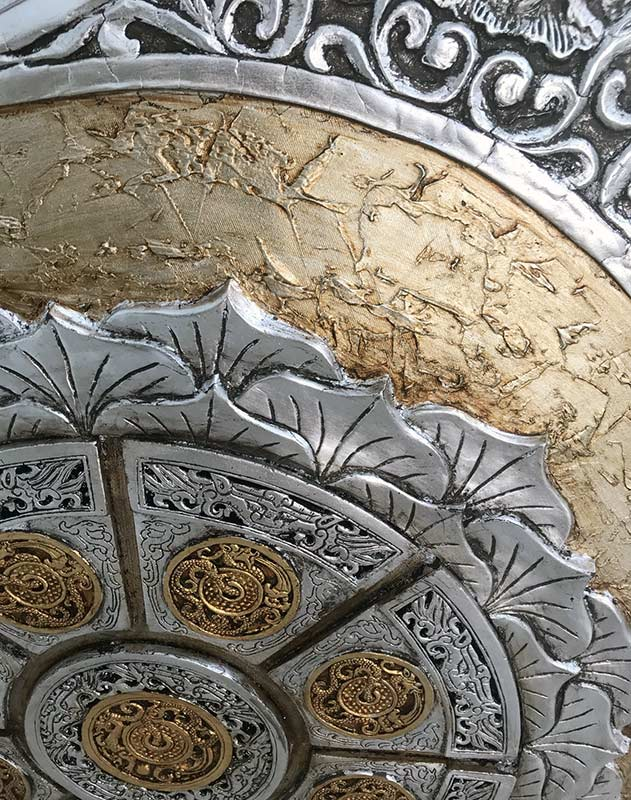 cuadros decorativos plata oro
