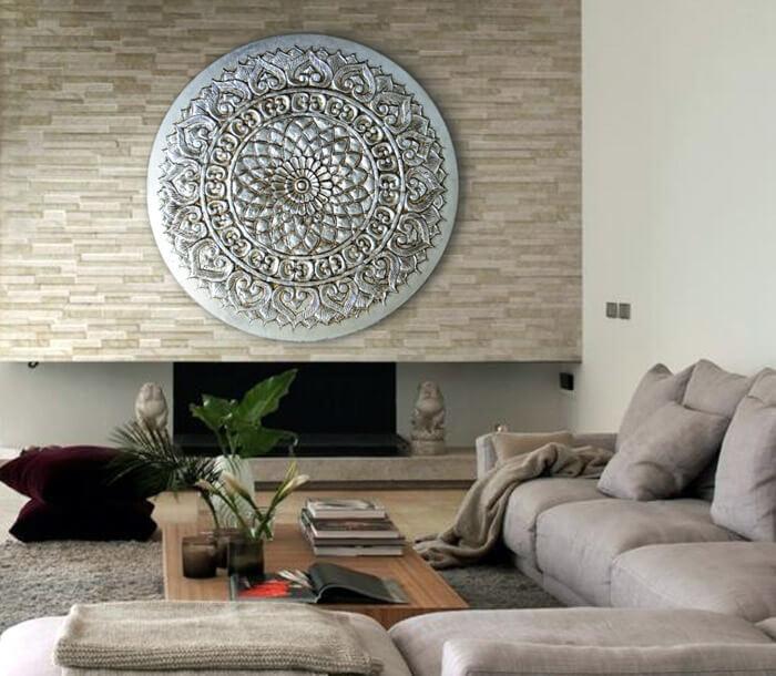 Estudio delier cuadro mandala circular for Cuadros verticales baratos