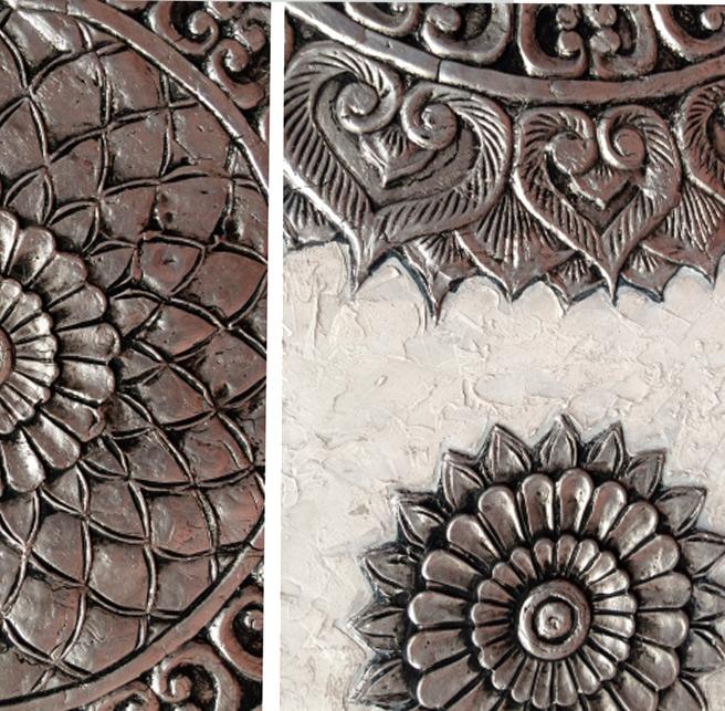 texturas plateadas