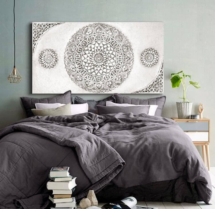 Estudio delier cuadro mandala cabeceros sofas - Cuadros para el dormitorio ...